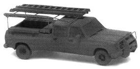 GHQ Chevrolet Crew-Cab 1-Ton Pickup w/Accessories Kit N Scale Model Railroad Vehicle #51008
