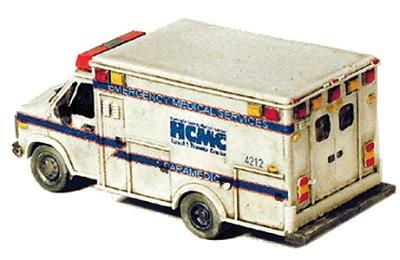GHQ Ambulance (Unpainted Metal Kit) -- N Scale Model Railroad Vehicle -- #51012