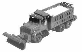 GHQ Snowplow Dump Truck (Unpainted Metal Kit) N Scale Model Railroad Vehicle #53017