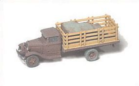 GHQ 1930 Ford Model AA 1-Ton w/Stake Body (Unpainted Metal Kit) N Scale Model Vehicle #56009