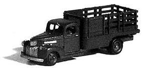 GHQ 1941 Chevrolet 1-Ton Truck w/Stake-Body (Unpainted Metal Kit) N Scale Model Vehicle #56010