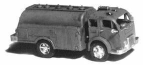 GHQ 1950s Fuel Delivery Tank Truck (Unpainted Metal Kit) N Scale Model Railroad Vehicle #56011
