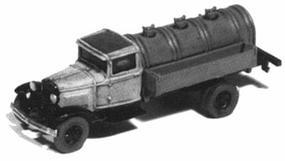 GHQ 1930s Ford Model AA Fuel Delivery Truck (Unpainted Metal Kit) N Scale Model Vehicle #56012