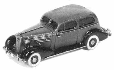 GHQ 1935 Chevrolet Master DeLuxe (Unpainted Metal Kit) -- N Scale Model Railroad Vehicle -- #57009