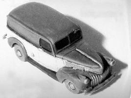 GHQ 1941 Chevrolet Panel Van (Unpainted Metal Kit) N Scale Model Railroad Vehicle #57016