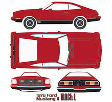 Green-Light 1976 Mustang II Mach 1 Red Diecast Model Car 1/18 Scale #12867
