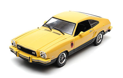 Green Light Collectibles 1976 Mustang II Stallion Yellow -- Diecast Model Car -- 1/18 Scale -- #12889
