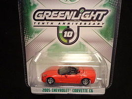 Green-Light 10th Anniversary 2005 Corvette C6 Diecast Model Car 1/64 Scale #29789