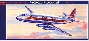 Glencoe Vickers Viscount 745 Aircraft Plastic Model Airplane Kit 1/96 Scale #05501