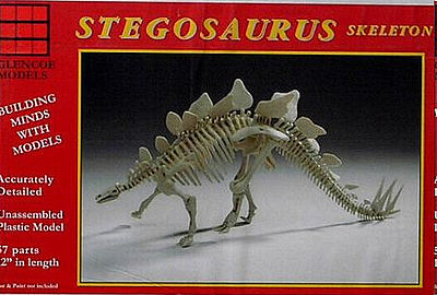 Glencoe Models Stegosaurus Skeleton -- Plastic Model Dinosaur Kit -- 1/25 Scale -- #07907