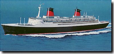 SS France Plastic Model Commercial Ship Kit Scale By - Cruise ship model kits