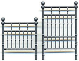 Grandt Wrought Iron Bed Headboard & Footboard O Scale Model Railroad Building Accessory #3587