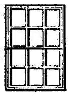 Grandt 12 Pane Double Hung Window (8) HO Scale Model Railroad Building Accessory #5009