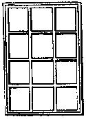 Grandt Line Products Inc 12 Pane Single Sash Window (4) -- HO Scale Model Railroad Building Accessory -- #5077