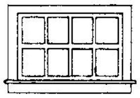Grandt Horizontal Siding Window (8) HO Scale Model Railroad Building Accessory #5081