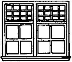 Grandt 32 Pane Double Hung Window HO Scale Model Railroad Building Accessory #5208