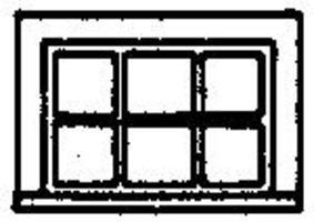 Grandt 6 Pane Horizontal Window (8) HO Scale Model Railroad Building Accessory #5242