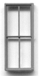 Grandt Line Products Inc 4 Pane Window (8) -- HO Scale Model Railroad Building Accessory -- #5261