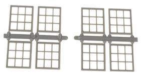 Grandt Masonry Window (8) HO Scale Model Railroad Building Accessory #5299