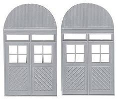 Grandt Warehouse Door with Rounded Facia HO Scale Model Railroad Building Accessory #5308
