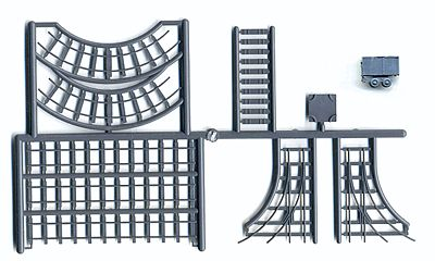 Grandt Line Products Inc Mine Car & Track - Kit - Undecorated -- HO Scale Model Railroad Building Accessory -- #5316