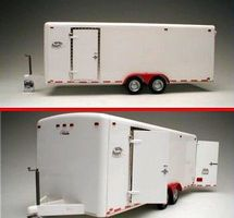 GalaxieLtd 21-Ft Tandem Two-Axle Tag-Along Trailer Plastic Model Trailer Kit 1/24 Scale #21