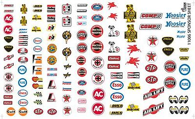 Gofer Racing Models Decals Manufacturer Sponsor Logos #1 -- Plastic Model Vehicle Decal -- 1/24 Scale -- #11006