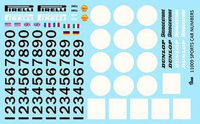 Gofer-Racing Racing Sport Car Numbers & Logos Plastic Model Vehicle Decal 1/24 Scale #11009