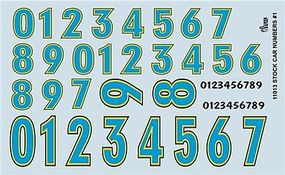 Gofer-Racing Stock Car Numbers Plastic Model Vehicle Decal 1/24 Scale #11013