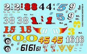 Gofer-Racing Vintage Modified Car Numbers Plastic Model Vehicle Decal 1/24 Scale #11015
