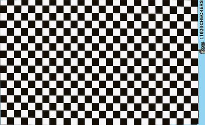 Gofer Racing Checkers Black White Plastic Model Vehicle Decal 1 24 Scale 11020