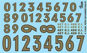 Gofer-Racing Gold Numbers Plastic Model Vehicle Decal #11028