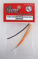 Gofer-Racing Wired Distributor with Boot (Orange) Plastic Model Vehicle Accessory 1/24-1/25 Scale #16005