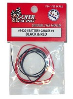 Gofer-Racing 1/24-1/25 Battery Cables Black & Red