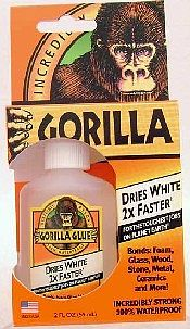 Gorilla Glue 2oz. Dries White Gorilla Glue 10pc Counter Display