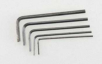 Great Planes Short Hex Wrench Set (5)