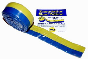 Green-Stuff Kneadatite Green Stuff Blue/Yellow Two-Part Epoxy Putty Tape 1x36 Roll (net wt. 3.5oz.)