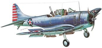 Guillows 31-1/4'' Wingspan SBD3 Dauntless Kit