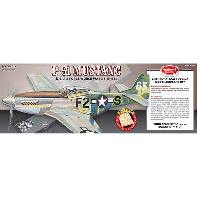 Guillows 27-3/4'' Wingspan P51 Mustang Laser Cut Kit