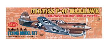 Guillows 16-1/2'' Wingspan P40 Warhawk Kit