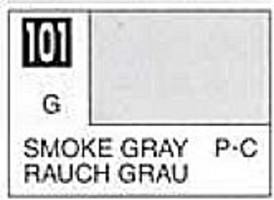 Gunze-Sangyo (bulk of 6) Solvent-Based Acrylic Gloss Smoke Gray 10ml Bottle (6/Bx)