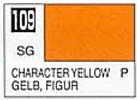 Gunze-Sangyo (bulk of 6) Solvent-Based Acrylic Semi-Gloss Character Yellow 10ml Bottle (6/Bx)