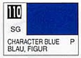 Gunze-Sangyo (bulk of 6) Solvent-Based Acrylic Semi-Gloss Character Blue 10ml Bottle (6/Bx)