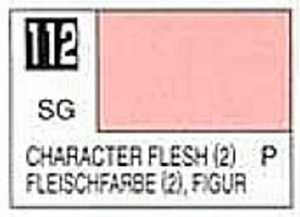 Gunze-Sangyo (bulk of 6) Solvent-Based Acrylic Semi-Gloss Character Flesh 2 10ml Bottle (6/Bx)