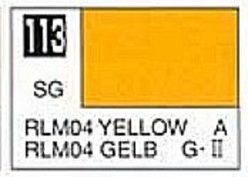 Gunze-Sangyo (bulk of 6) Solvent-Based Acrylic Semi-Gloss Yellow RLM04 10ml Bottle (6/Bx)