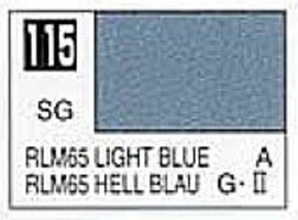 Gunze-Sangyo (bulk of 6) Solvent-Based Acrylic Semi-Gloss Light Blue RLM65 10ml Bottle (6/Bx)