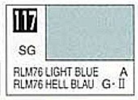 Gunze-Sangyo (bulk of 6) Solvent-Based Acrylic Semi-Gloss Light Blue RLM76 10ml Bottle (6/Bx)