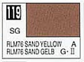 Gunze-Sangyo Solvent-Based Acrylic Semi-Gloss Sandy Yellow RLM76 10ml Bottle (6/Bx)