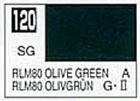 Gunze-Sangyo (bulk of 6) Solvent-Based Acrylic Semi-Gloss Olive Green RLM80 10ml Bottle (6/Bx)