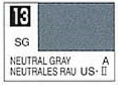Gunze-Sangyo Solvent-Based Acrylic Semi-Gloss Neutral Gray 10ml Bottle (6/Bx)